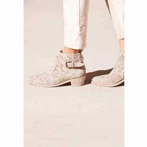 Free People X Farylrobin Suede Distressed Boot